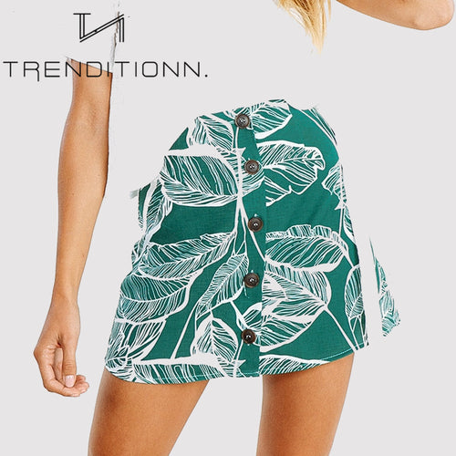 Green leaves skirt