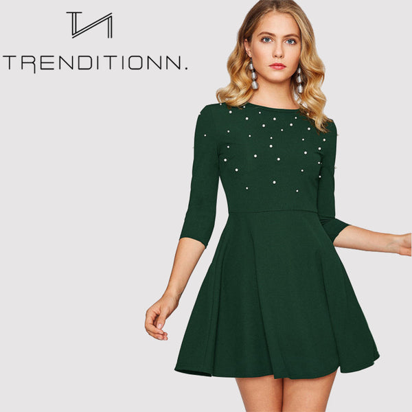 Winter beading dress