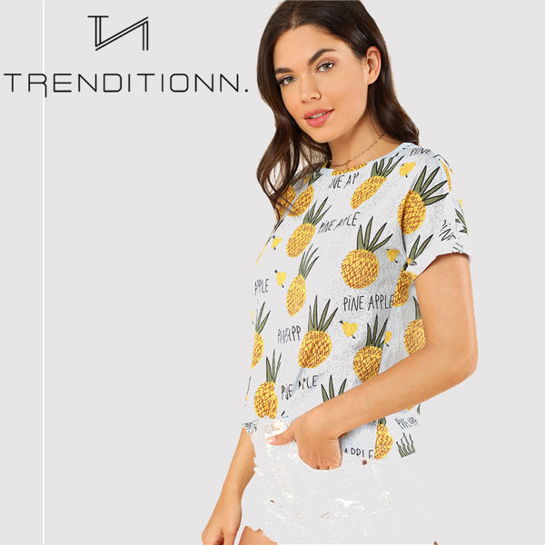 Preppy pineapple shirt