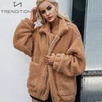 Oversized faux fur jacket | Trenditionn.
