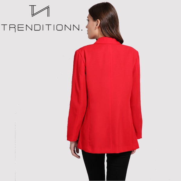 Red autumn blazer