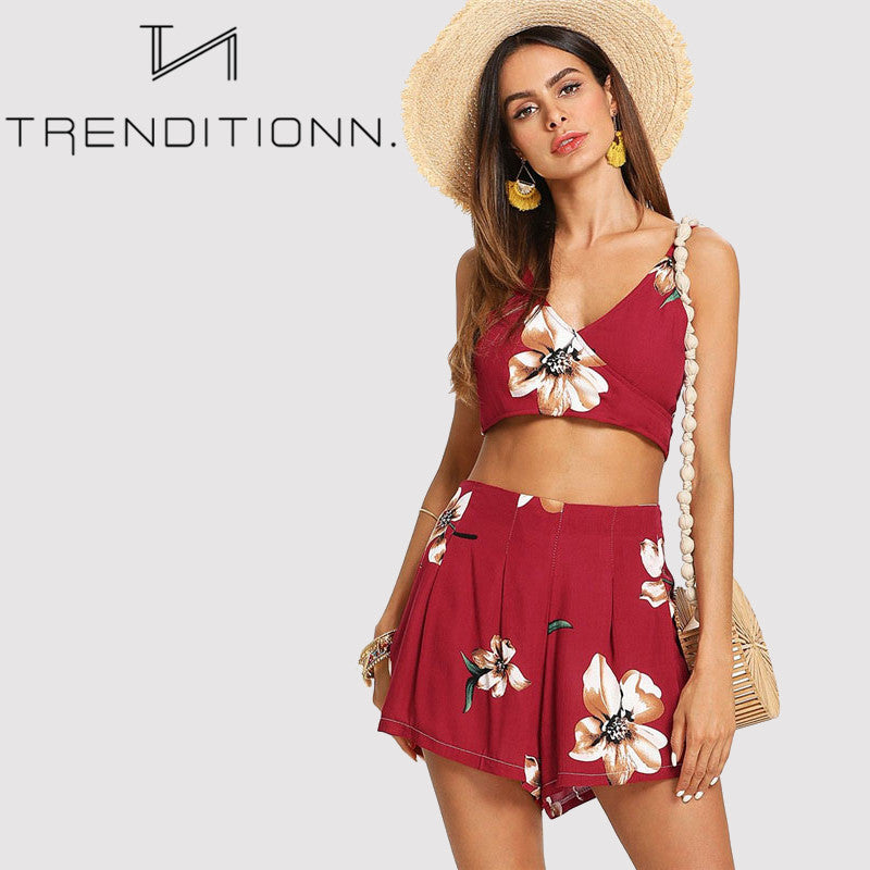 Red summer two piece