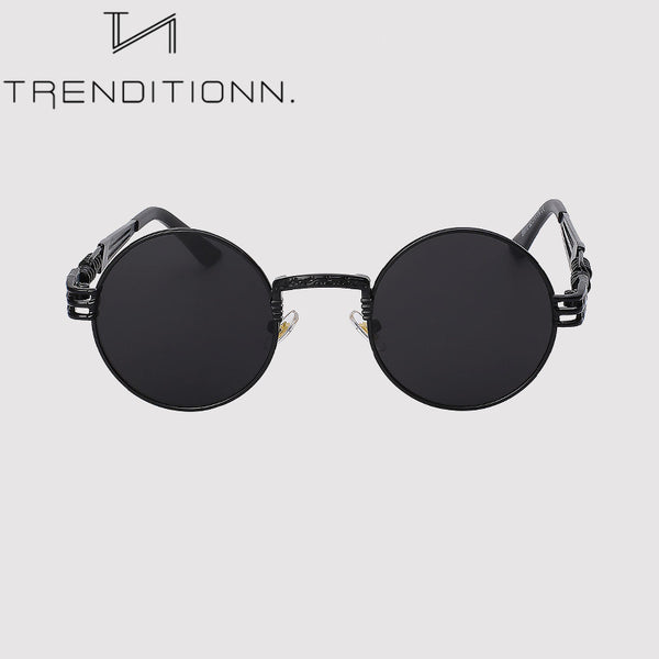 Round sunglasses with thick setting