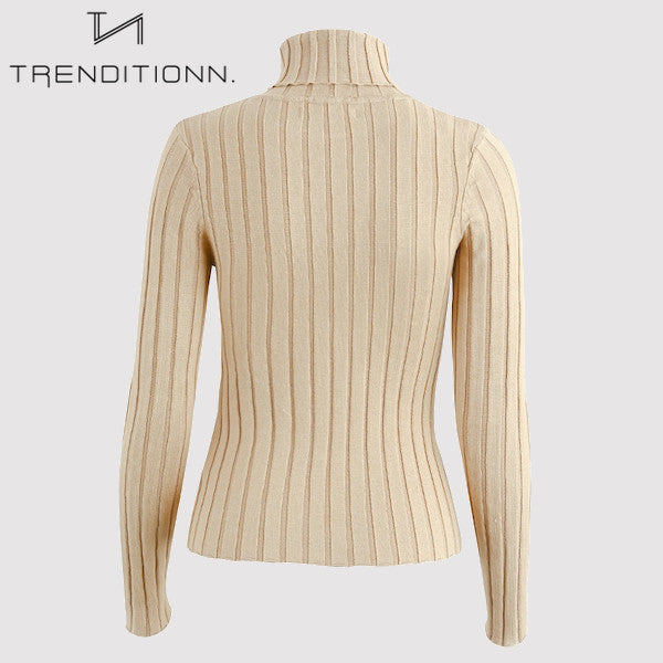 Turtle neck with long sleeves | Trenditionn.