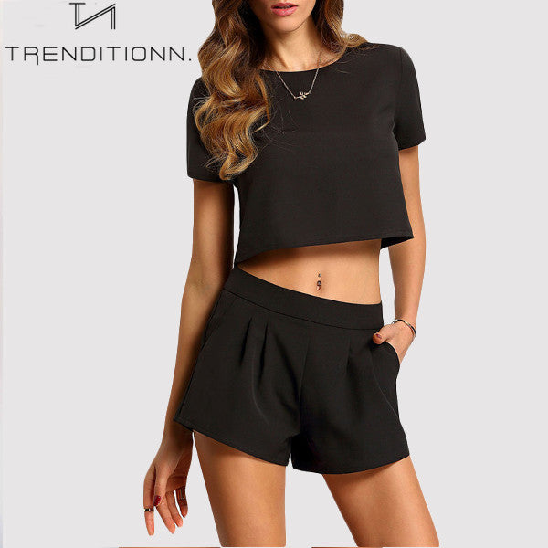 Black half two piece