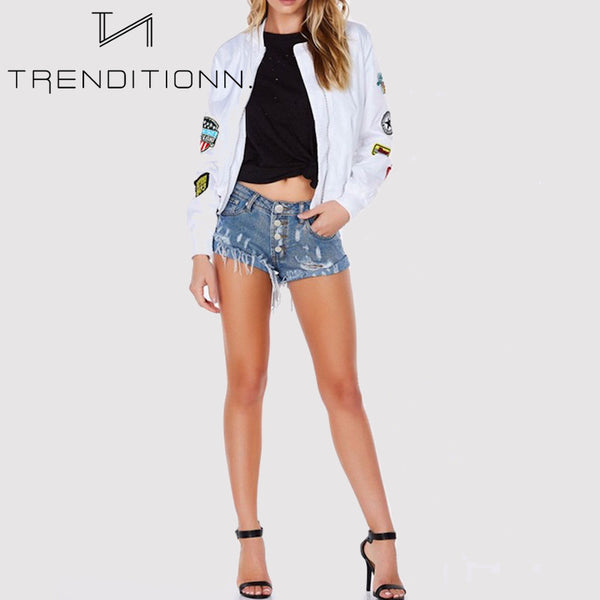 White bomber jacket