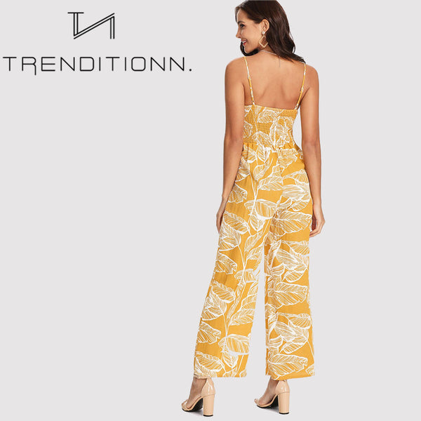 Yellow spaghetti jumpsuit