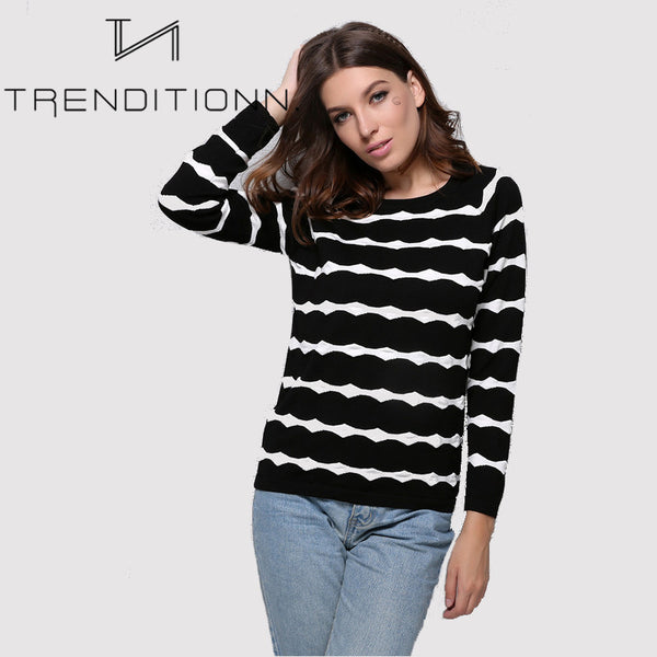 Knitted striped shirt