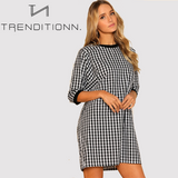Oversized blocked dress