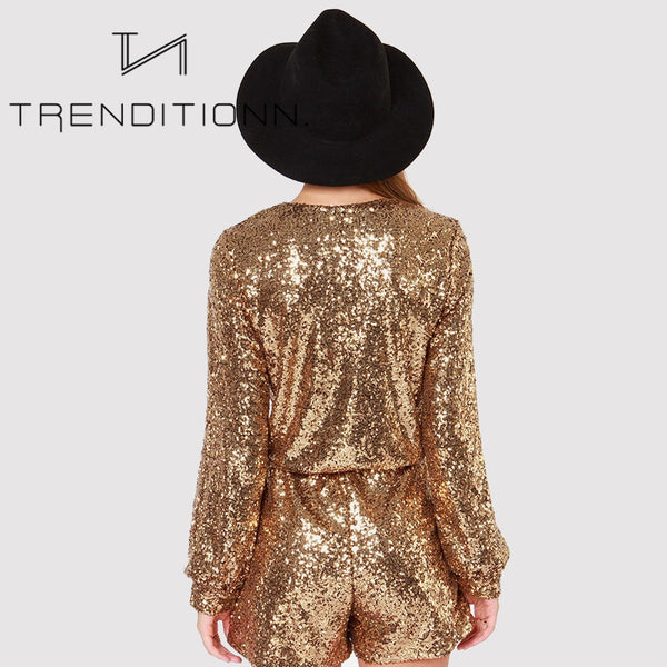 Sequin party playsuit