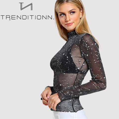 Sparkle see through top
