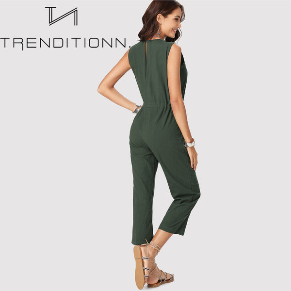 Green earth jumpsuit