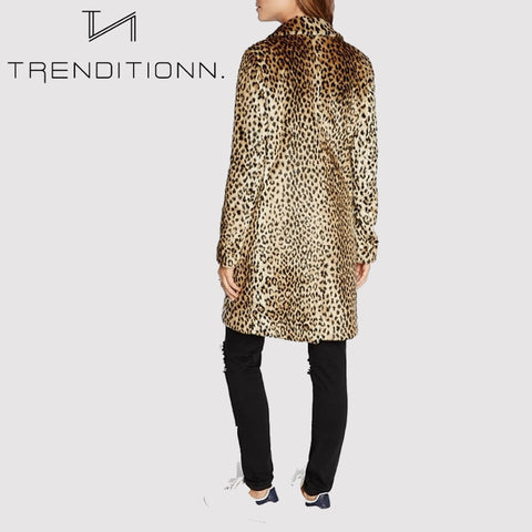 Coat with leopard print *SUPERSALE*