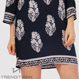 Dark blue short loose dress