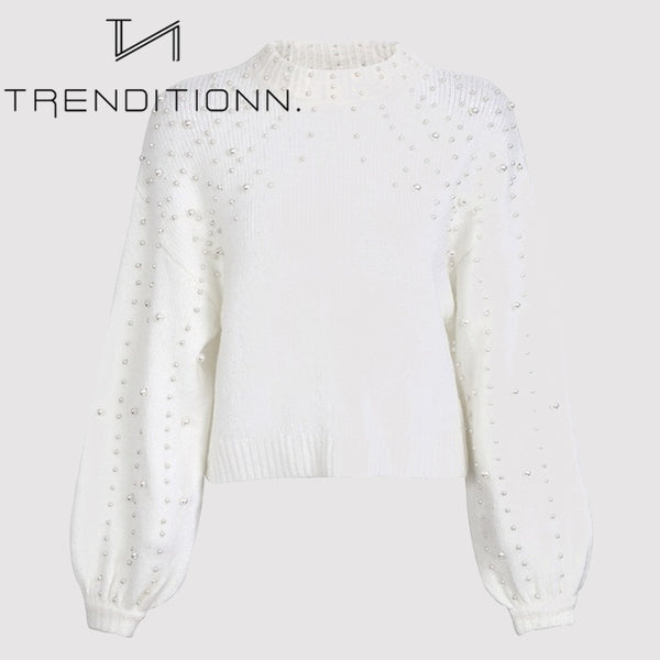Short pearl sweater