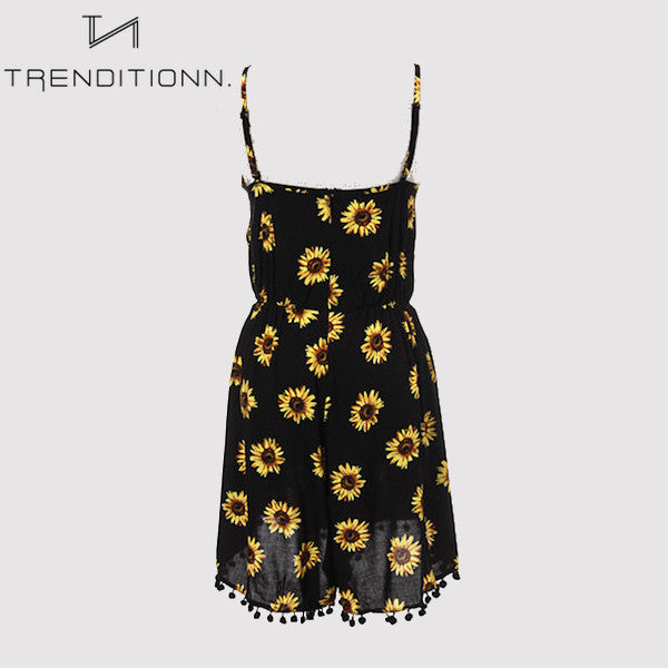 Romper with sunflowers