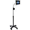 Cta Digital Ipad And Tablet Compact Security Gooseneck Floor Stand With Lock-&-key Security System