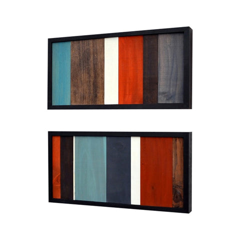 Wood Sculpture Art - Modern Wall Art - 12x24 set - Modern Textures