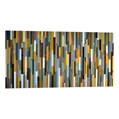 Wood Wall Art - Wall Sculpture - 3D Art - 24x48 - Modern Textures