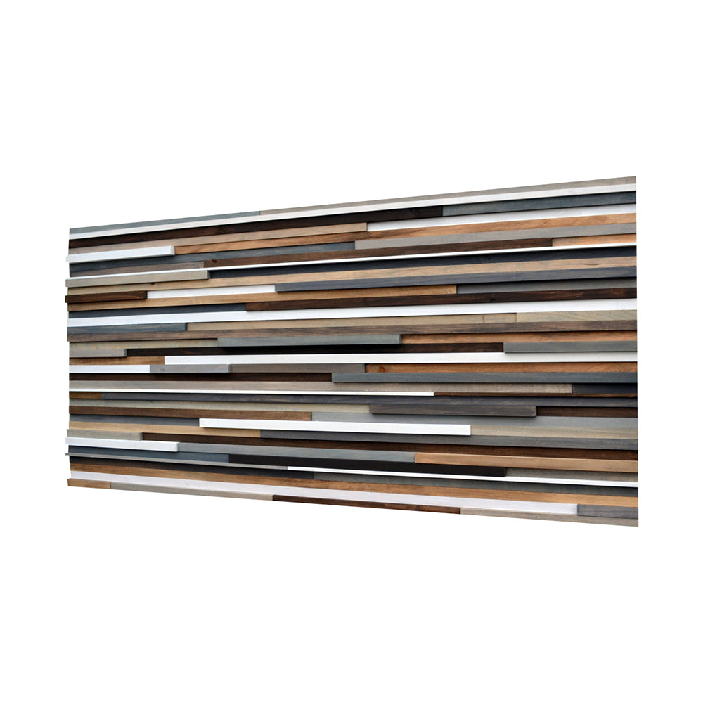 Wood Wall Art - Reclaimed Wood Art - 3D Art - 26x50 - Modern Textures