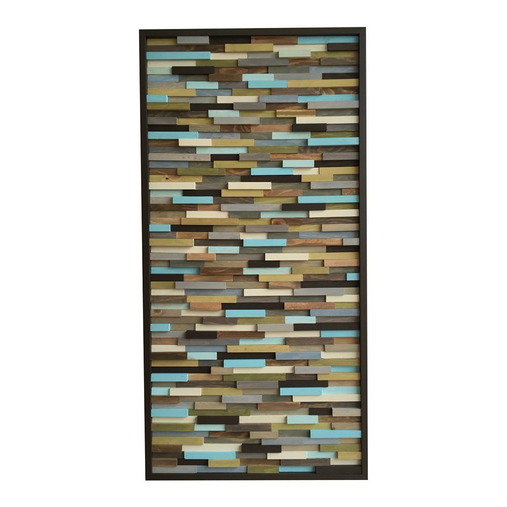 Modern Wall Art - Reclaimed Wood Art Sculpture - Abstract Wall Art- 24x48 - Modern Textures