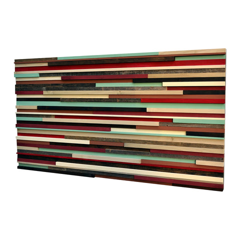 Modern Wall Art Wood Sculpture - Art on Wood - 3D Art - 24x48 - Modern Textures