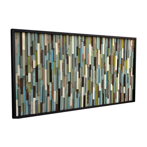 Wall Art - 3D Art- Recycled Wood Art Sculpture - Modern Wall Art - 24x48 - Modern Textures