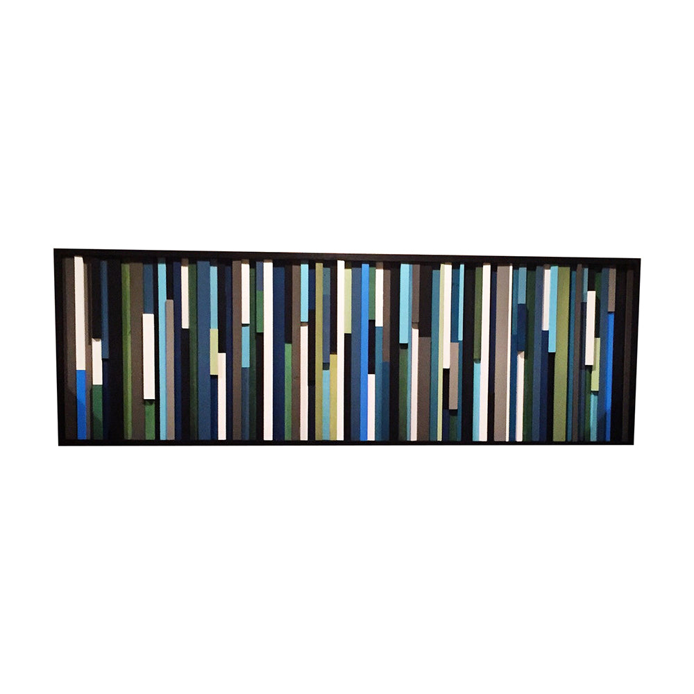 Wood Wall Art - 3D art - Modern Wood Sculpture - 15x38 - Modern Textures