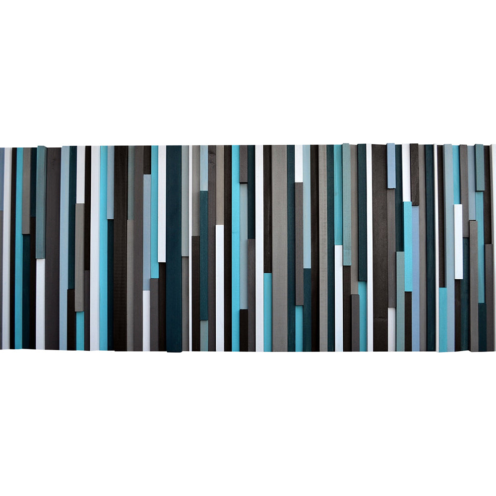 Wood Wall Art - Reclaimed Wood Art - 3D - Wall Art Sculpture 20X60 - Modern Textures