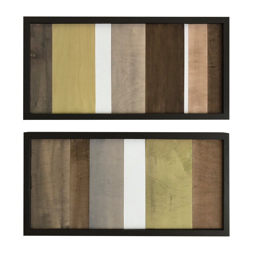 Wood Wall Art - Wood Art - Reclaimed Wood Art - Color Block Collection - 12x24 set - Modern Textures