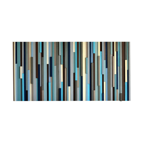 Wood Sculpture Wall Art - 3D Art - Wall Sculpture - 24 x 48 - Modern Textures