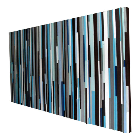 Wood Wall Art - Wood Art -Reclaimed Wood Art - Queen or King Headboard 36 x 72 - Modern Textures