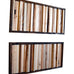Wood Wall Art/Sculpture Wall Art - 8 x 16 - Framed Set - Modern Textures