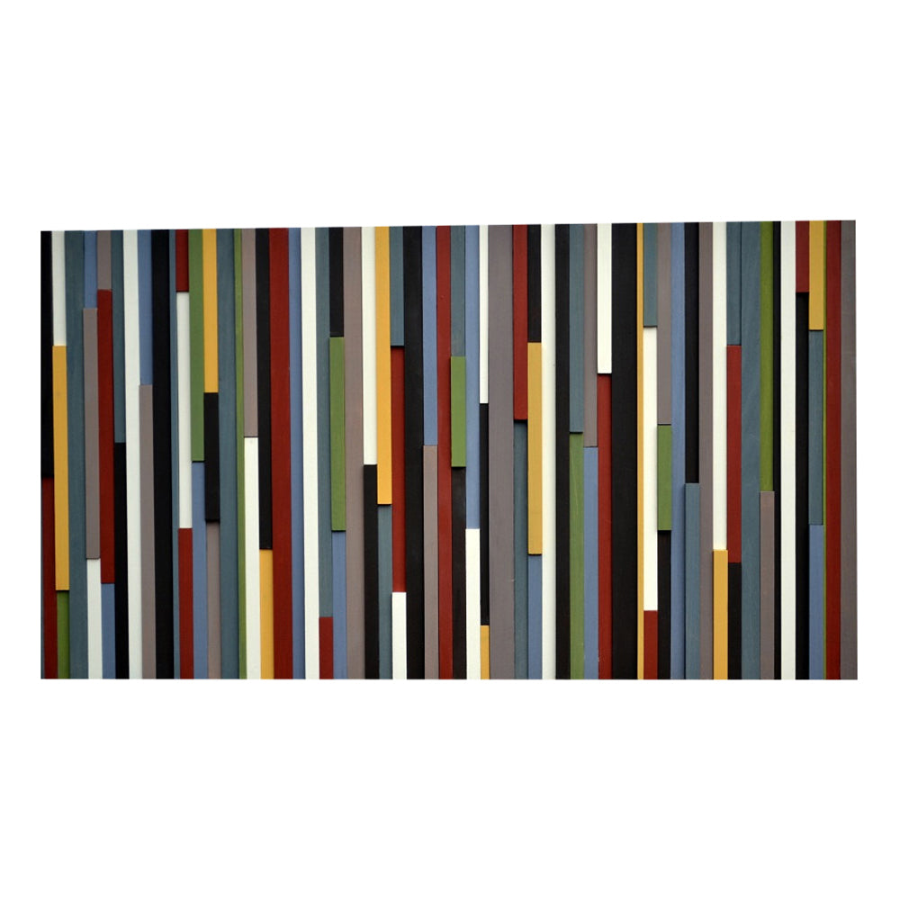 Wood Wall Art - Wood Sculpture - 3D Art - Abstract Painting on Wood - 24x48 - Modern Textures