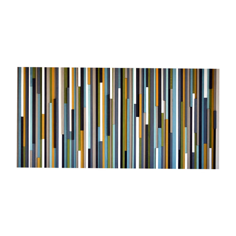 Wood Wall Art Sculpture - 3D Art - Headboard - 36x72 - Modern Textures