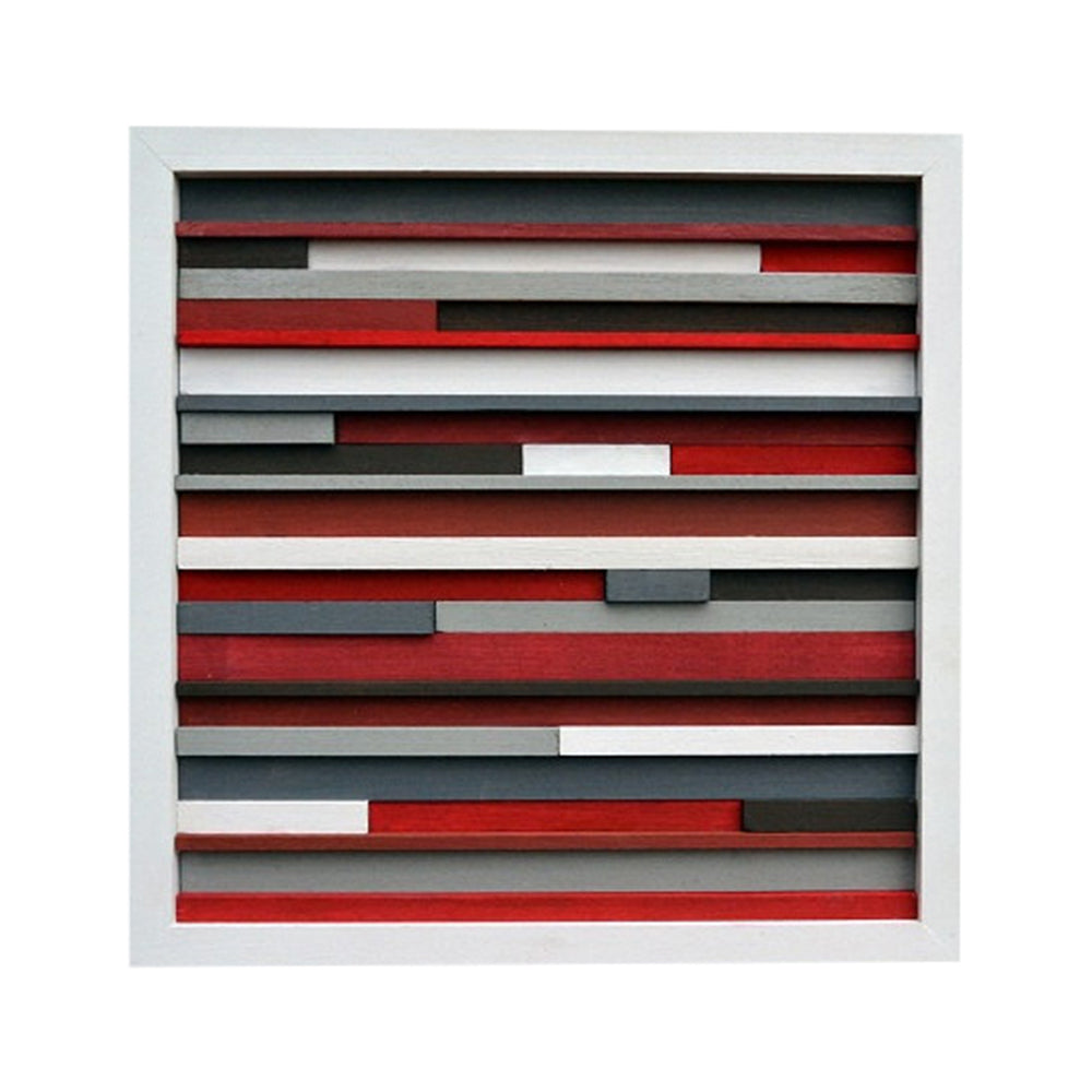 Wood Wall Art - Sculpture Reclaimed Wood - Abstract Painting on Wood - 12x12 - Modern Textures