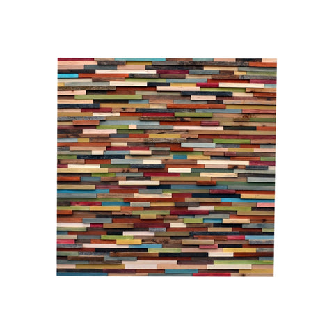 Wood Wall Art - Reclaimed Wood Art Sculpture - Modern Wall 3D Art - 40x40 - Modern Textures