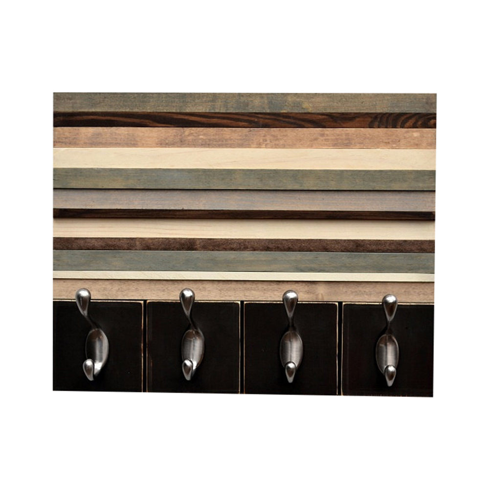 distressed wood wall art abstract wood wall art with hooks key hanger organizer recycled distressed distress