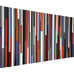 Queen Headboard - Wood Wall Art - Reclaimed Wood Art - Wood Sculpture - 60x30 - Modern Textures