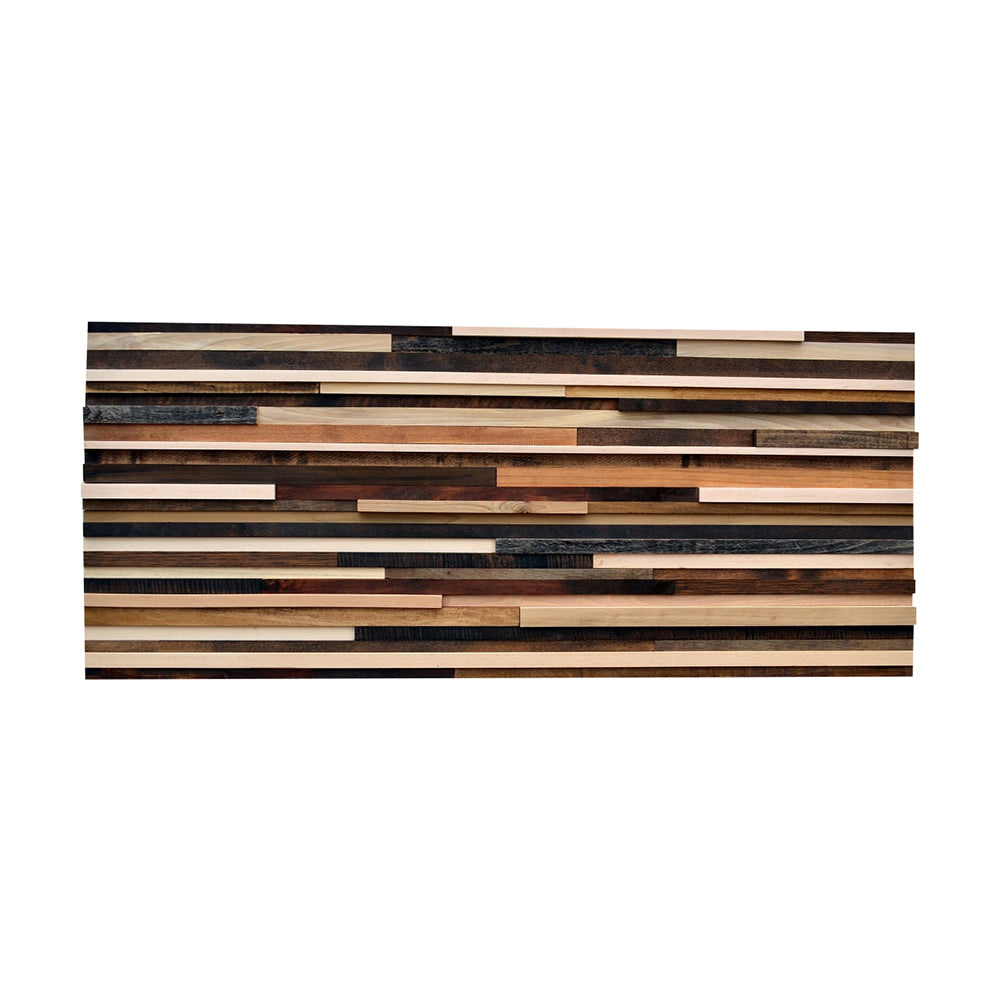 Modern Wood Headboard - Full Headboard - Reclaimed Wood Sculpture - 24x56 - Modern Textures