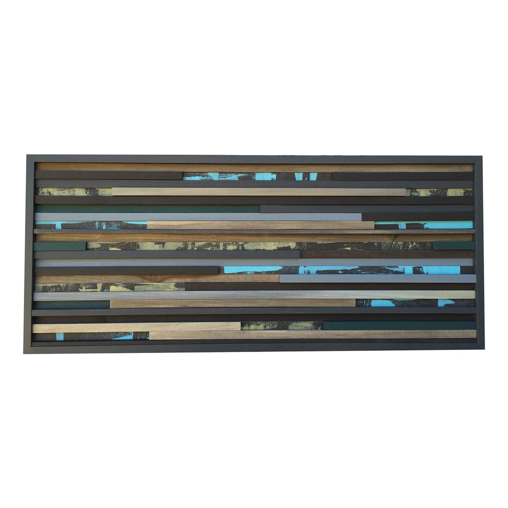 Modern Wood Wall Sculpture Wall Art - 3D Art - 18 x 42 - Modern Textures