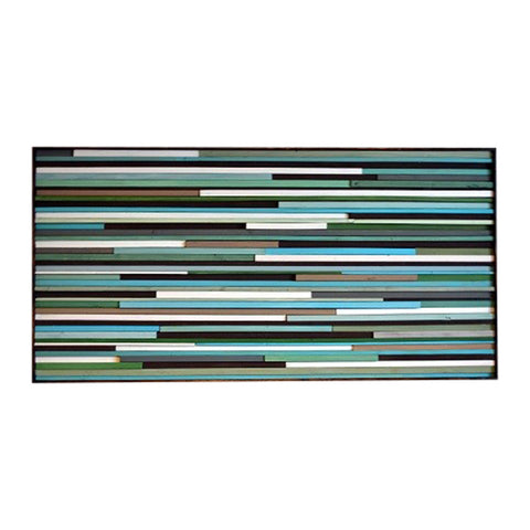 Wood Wall Art Sculpture - Wall Art - 3D Art - 24 x 48 - Modern Textures