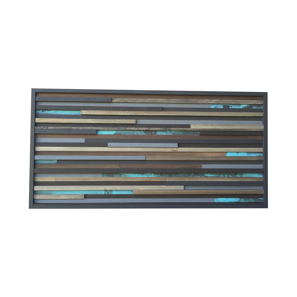 Wall Art - Wood Sculpture Wall Art - 3D Art - 21 x 42 - Modern Textures