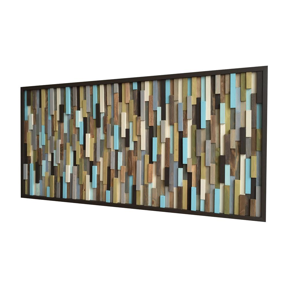 ... Abstract Painting On Wood   Reclaimed Wood Art Sculpture   Modern Wall  Art  24x48, ...