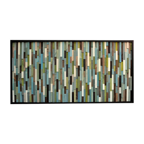 Headboard - Full Headboard - Wood Wall Art - 3D Art -  24x56 - Modern Textures