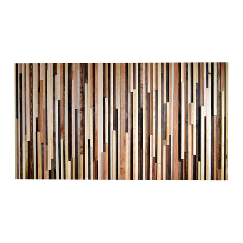 Wall Art - Wood Sculpture Queen Headboard or Wall Art - Lines - 36 x 64 - Modern Textures
