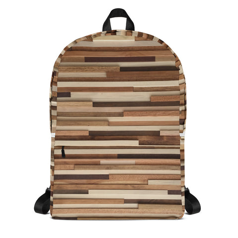 Artsy Backpack by Modern Textures / All Over Print Wood Grain / Laptop Backpack