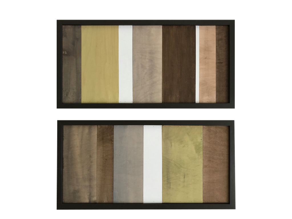 Wood Wall Art - Wood Art Sculpture - Modern Artwork - Greens, Browns, White - Modern Textures