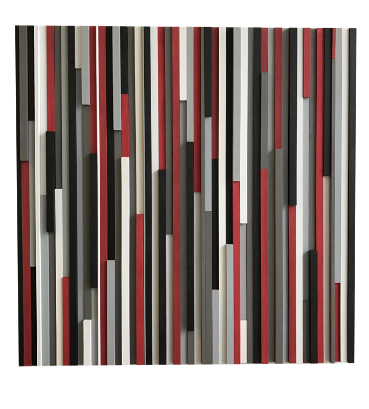 Wood Wall Art Reclaimed Wood Art Sculpture Modern 3d Artwork Red White Black Modern Textures Inc