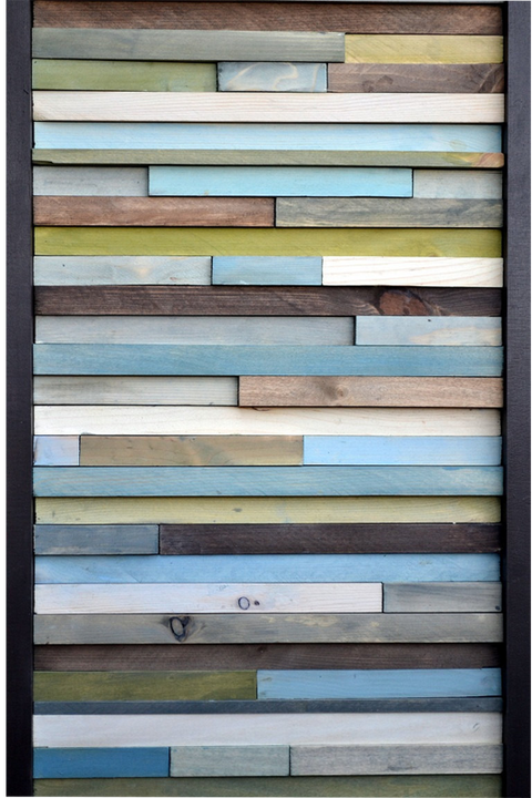 Wood Wall Art - Reclaimed Wood Art Sculpture - 3D Artwork - Modern Textures